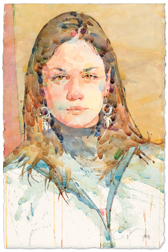 Alyssa | watercolor portrait