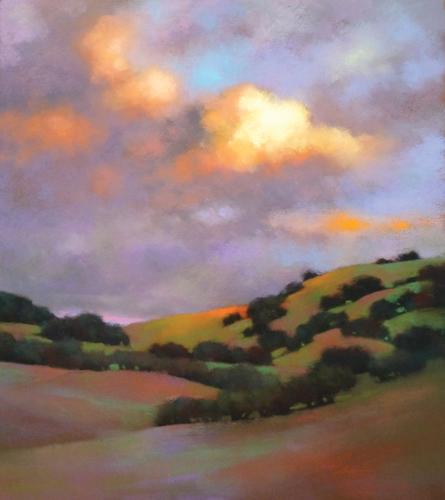 Breaking Skies (pastel) by Teresa Saia