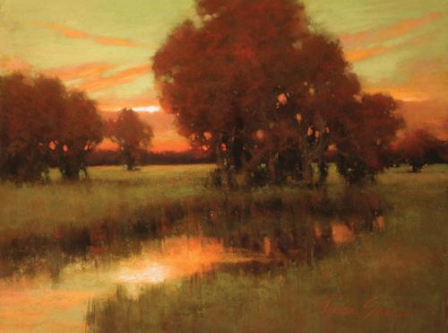 Guardian Marsh (pastel) by Teresa Saia