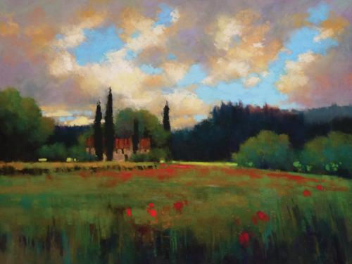 Nestled (pastel, 24x18) by Teresa Saia