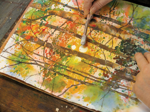 Creating a Backlit Watercolor Landscape | Karlyn Holman, ArtistsNetwork.com