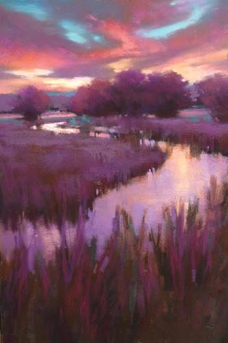 Purple Haze (pastel, 18x12) by Teresa Saia