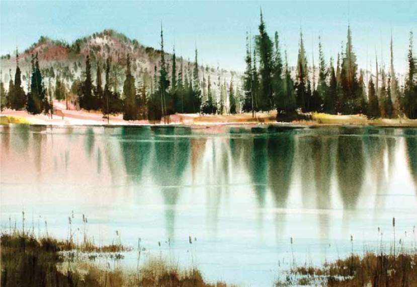 Learn how to paint lakes with this free pdf at ArtistsNetwork.com