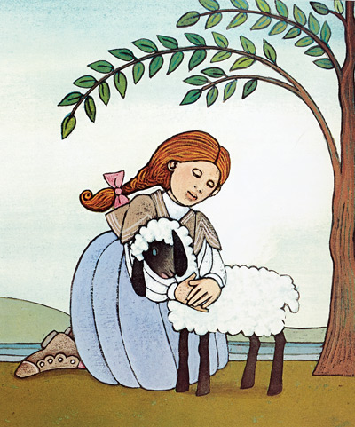 Mary of Mary Had A Little  Lamb was based on an actual child in dePaola's neighborhood, which was also the neighborhood of the rhyme's author.