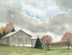 watercolor landscape demonstration