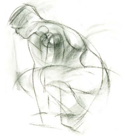 Gestural drawing by Robert Barrett
