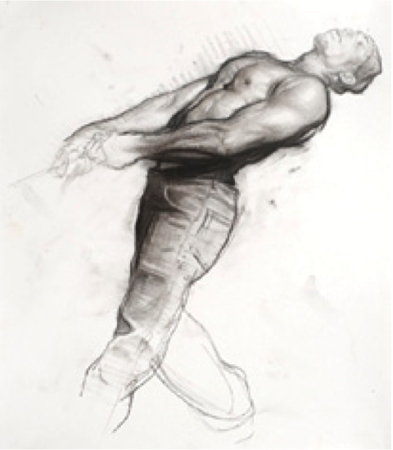 figure study by artist Steven Huston