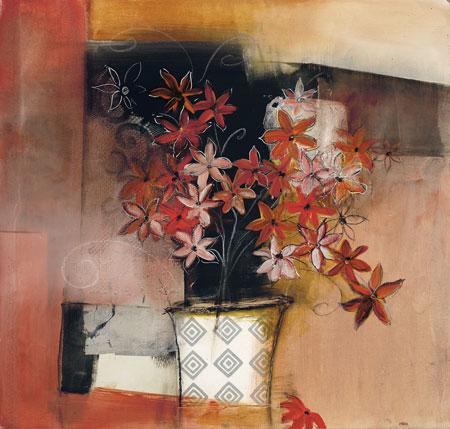 Mixed media art by Asha Menghrajani
