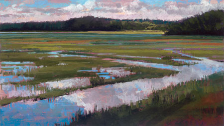 pastel landscape painting by Liz Haywood-Sullivan