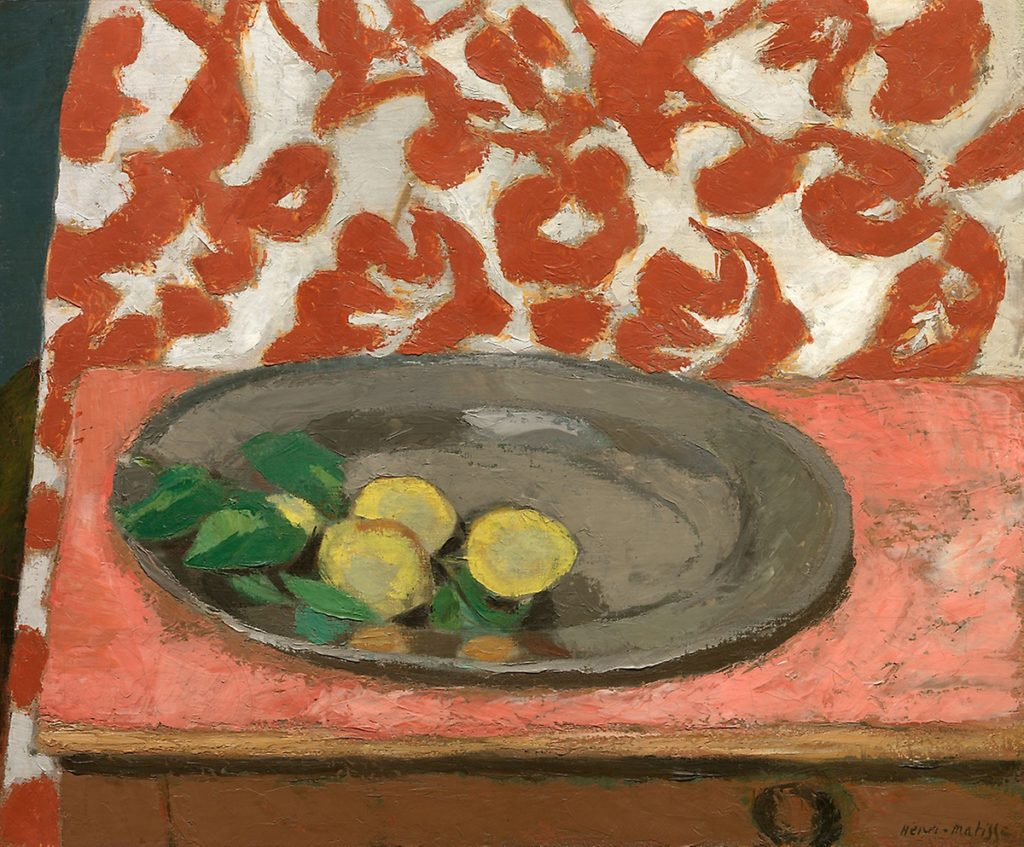 Still Life with Lemons on a Pewter Plate by Henri Matisse