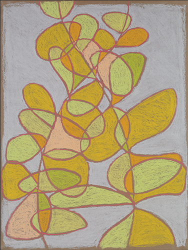 Third Composition (pastel, 24x18) by Jim Morgan | botanical