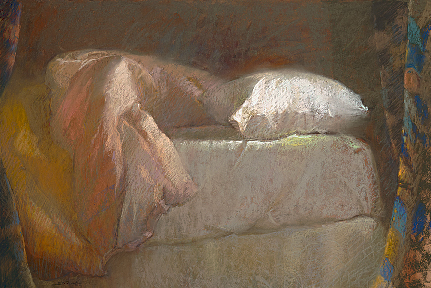 Bedside A.M. (pastel) by Sally Strand