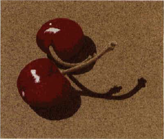 colored pencil and acrylic cherries 2