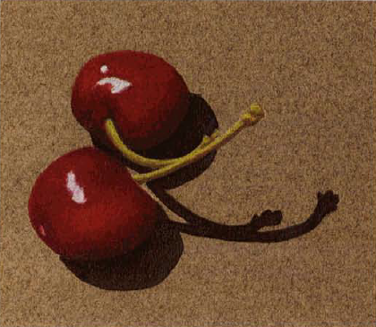 colored pencil and acrylic cherries 3