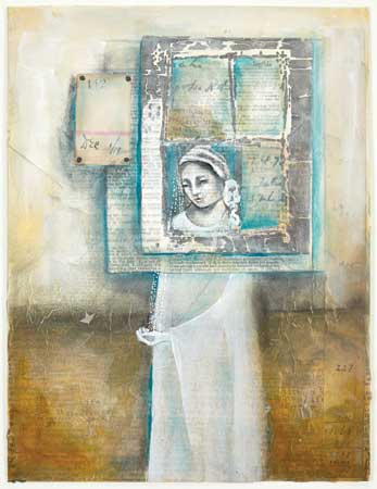 (mixed media art by Pam Carriker