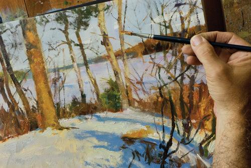 Peter-Fiore-paints-Morning-Sun-Newbury