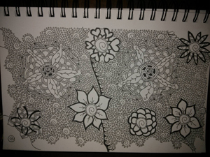 Zentangle drawing by Cherie Haas