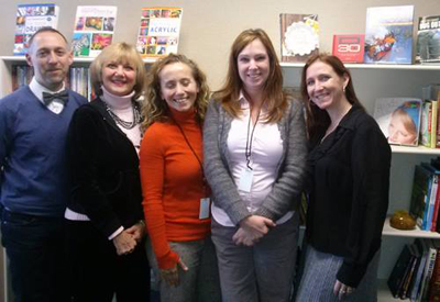 Me with my peeps from North Light Books. From left: Jamie Markle, Lee Hammond, Mona Michaels, Kristy Colin, Cherie Haas