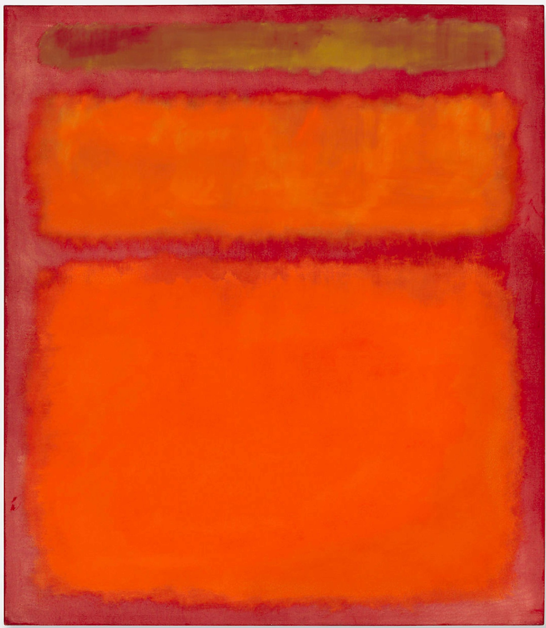 Orange, Red and Yellow by Mark Rothko, 1961