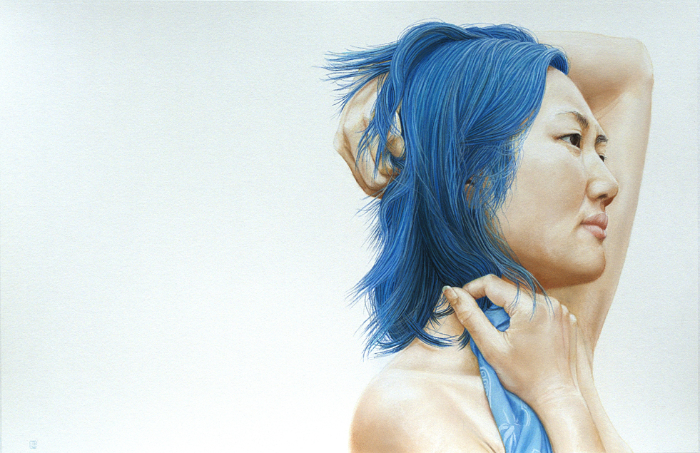Blue (pastel, 19x28) by David Wells
