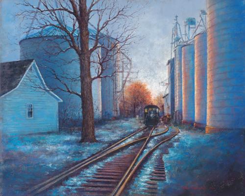 Farmers Grain (pastel, 19x24) by Helen Kleczynski | pastel painting