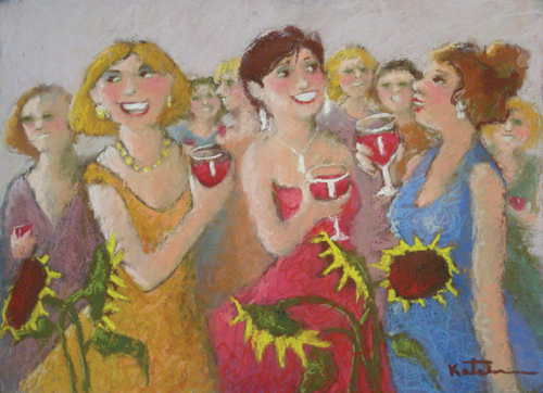 Girls' Night Out (pastel) by Carole Katchen  | pastel painting