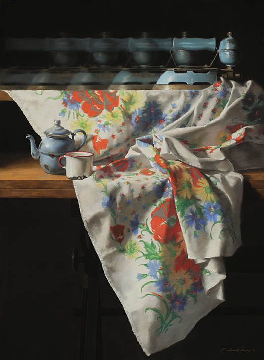 Laundry Day (pastel) by Deborah Bays