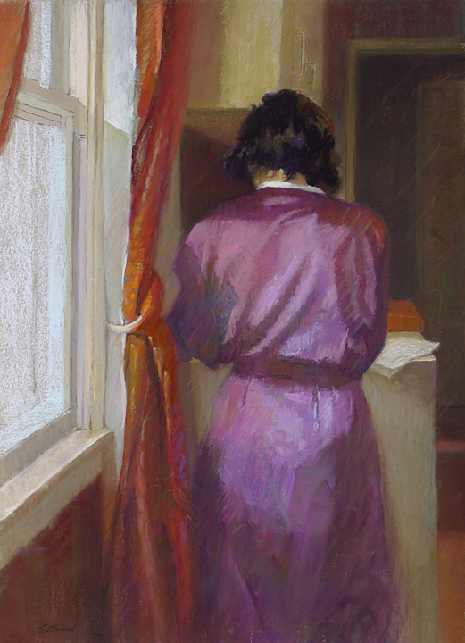 The Letter (pastel) by Sally Strand