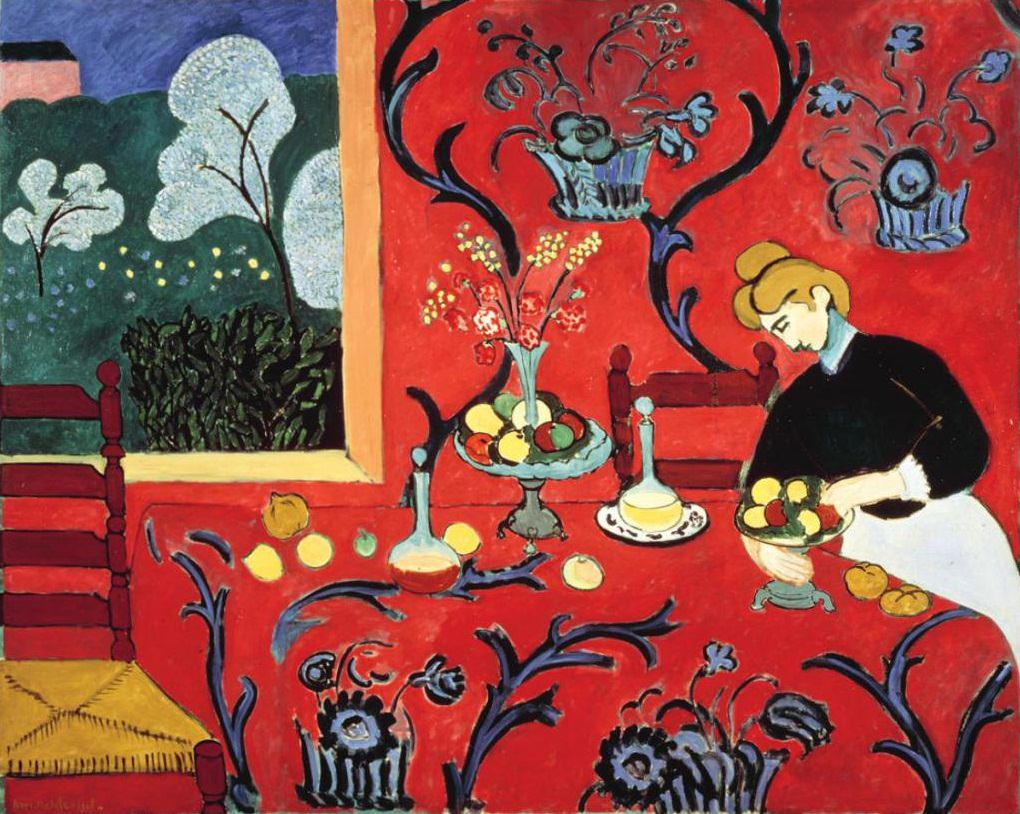 The Dessert: Harmony in Red by Henri Matisse, 1908