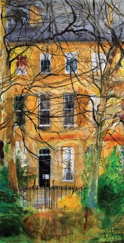 Leazes Terrace (watercolor) by Peter Quinn