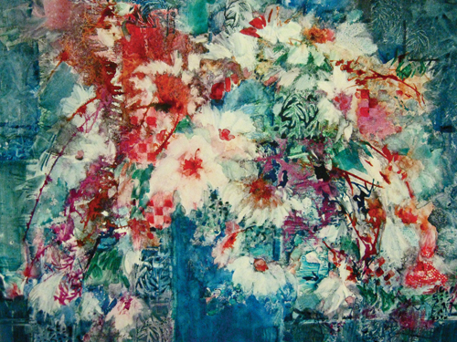 Tapestry (watercolor on YUPO, 21x29) by Chica Brunsvold | watercolor flowers
