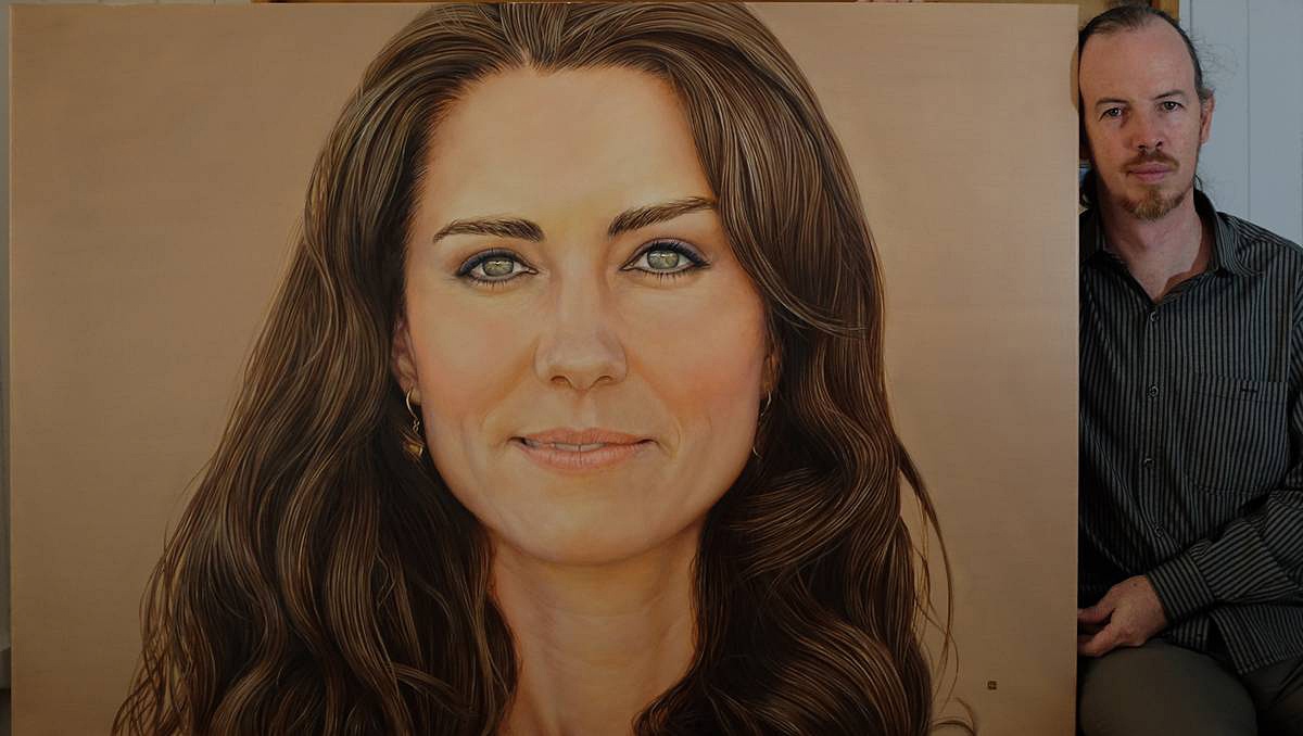 kate middleton portrait in oils