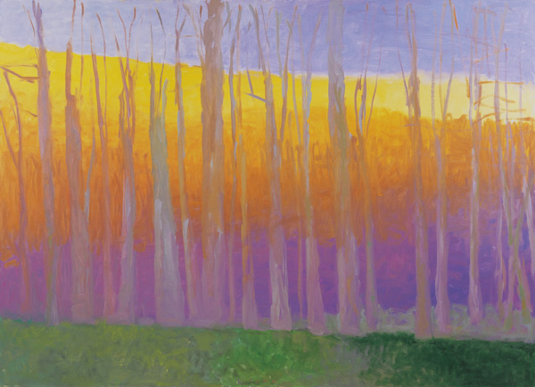 Wolf Kahn: Large Tree Line (oil)