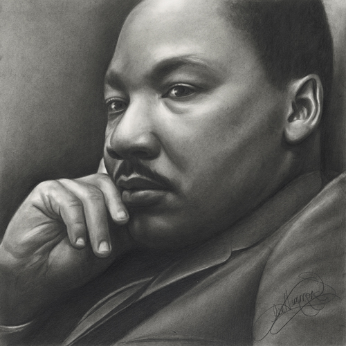 Martin Luther King Jr drawing by Lee Hammond
