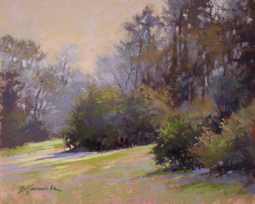 My Quiet Little Spot (pastel, 8x10) by Barbara Jaenicke | landscape painting