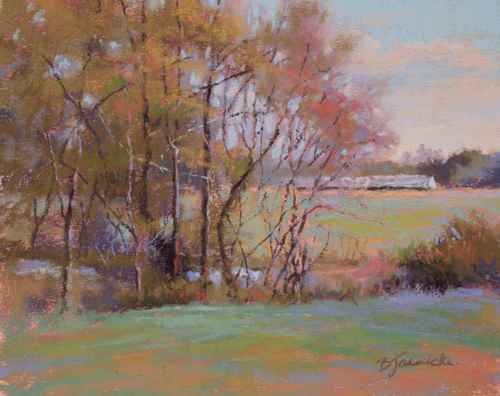 Springtime Awakening (pastel, 8x10) by Barbara Jaenicke | landscape painting