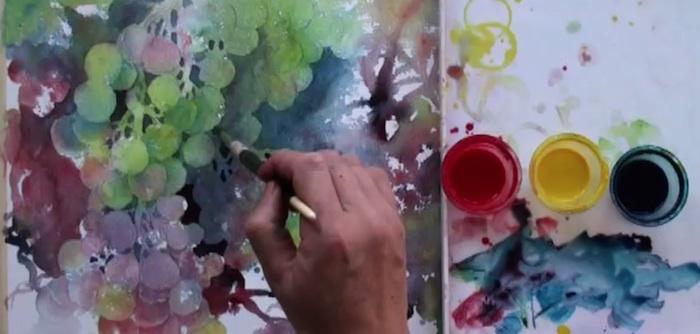 ZhenWatercolorGrapes