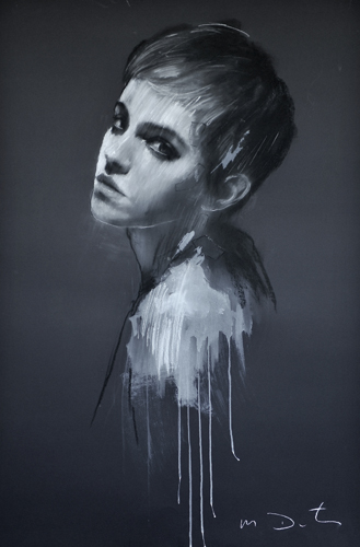 Emma 15 (pastel and collage, 46x32) by Mark Demsteader | figure painting