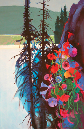 Stephen Quiller acrylic painting
