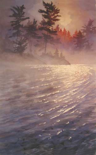 Morning Overture, landscape painting by Gordon MacKenzie