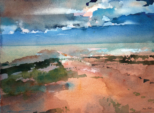 Untitled (watercolor on paper) by Ian Potts