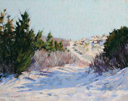 Gossamer Dunes (pastel) by Margaret Farrell Bruno