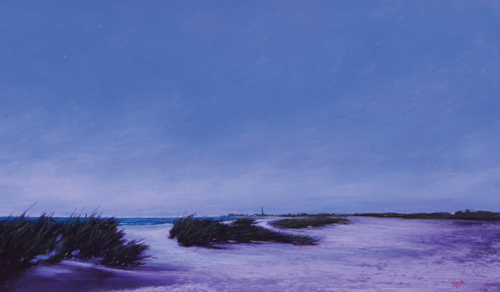 Midnight on the Cove (pastel) by Stan Sperlak