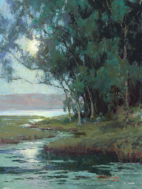 Kim-Lordier-pastel-Evening-on-the-Slough
