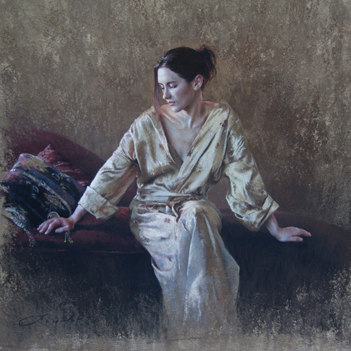 Rivages (pastel) by Nathalie Picoulet | figure painting