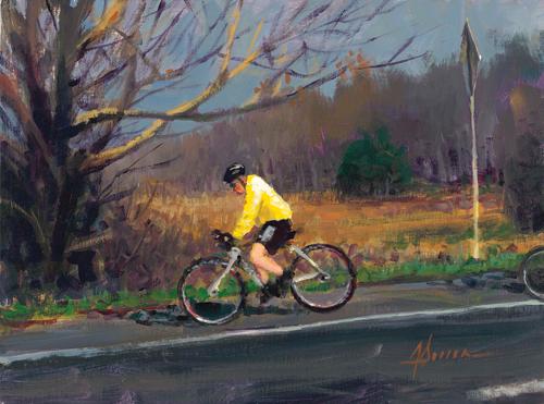 Biker (acrylic) by Jason Sacran