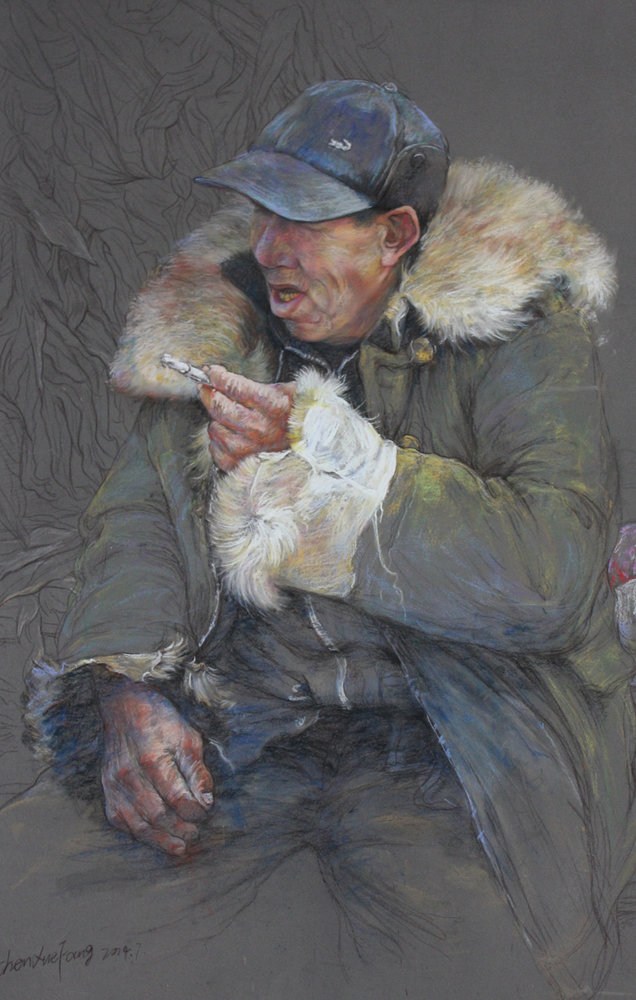 Honored (pastel on paper, 22x 30) by CHEN XueFang