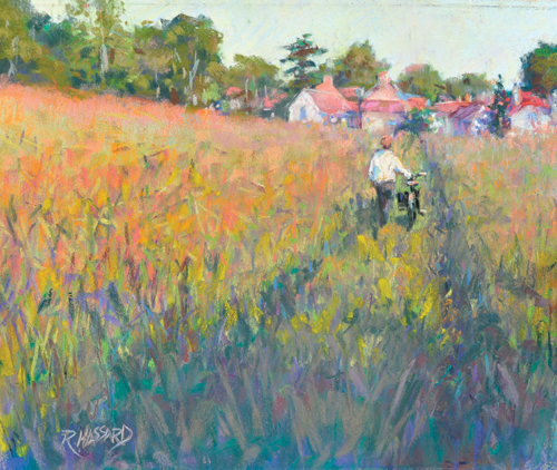 The Path to Giverny (pastel, 10x12) by Ray Hassard