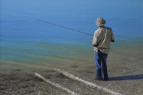 Gone Fishin' (acrylic) by Del-Bourree Bach