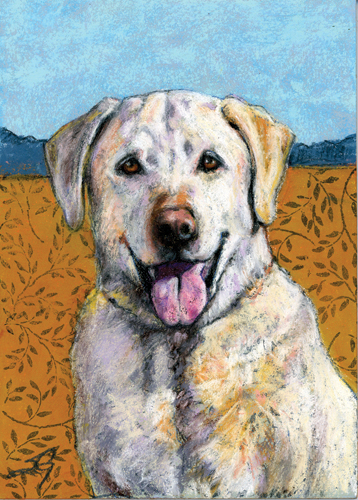 Gordon (pastel and mixed media) by Susan Grinels